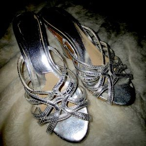 Charles Davis Silver Wedges - SUPER CUTE